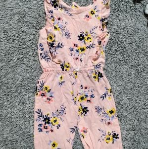 Carter's baby girl floral jumpsuit